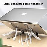Складной держатель подставка из алюминиевого сплава для ноутбука и планшета, фото 3