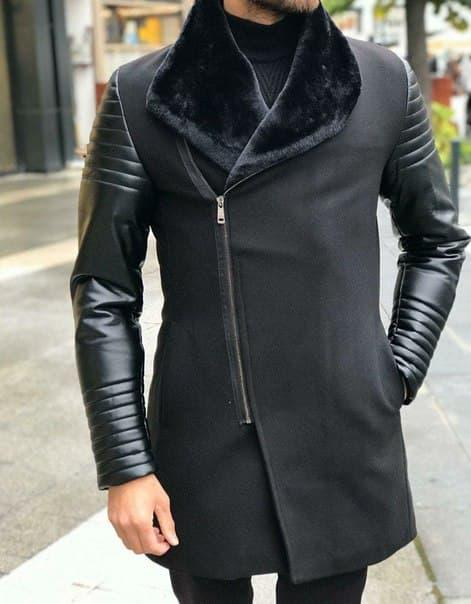 Модное мужское короткое пальто