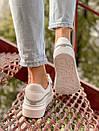 Кожаные кроссовки Alexander McQueen White, фото 4