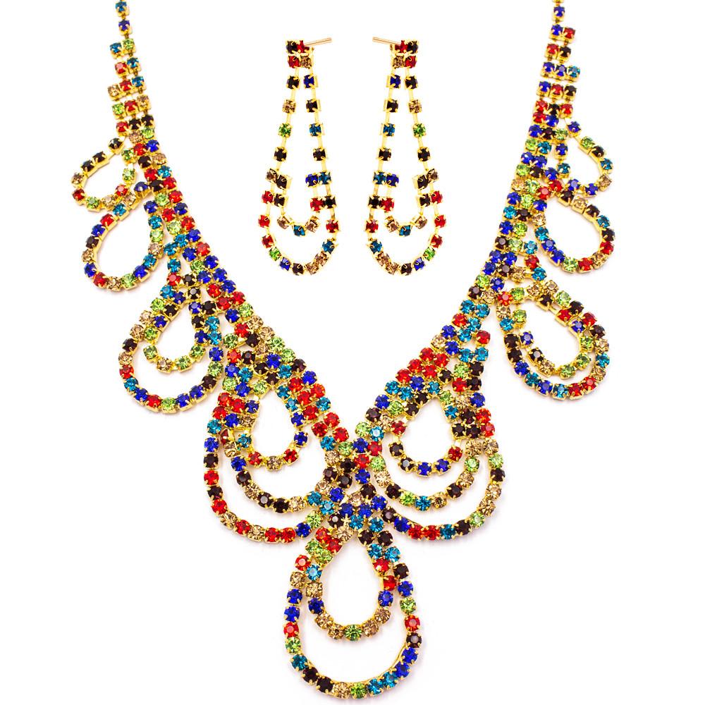 """Набор эксклюзивной бижутерии ожерелье+серьги """"Ажур"""""""
