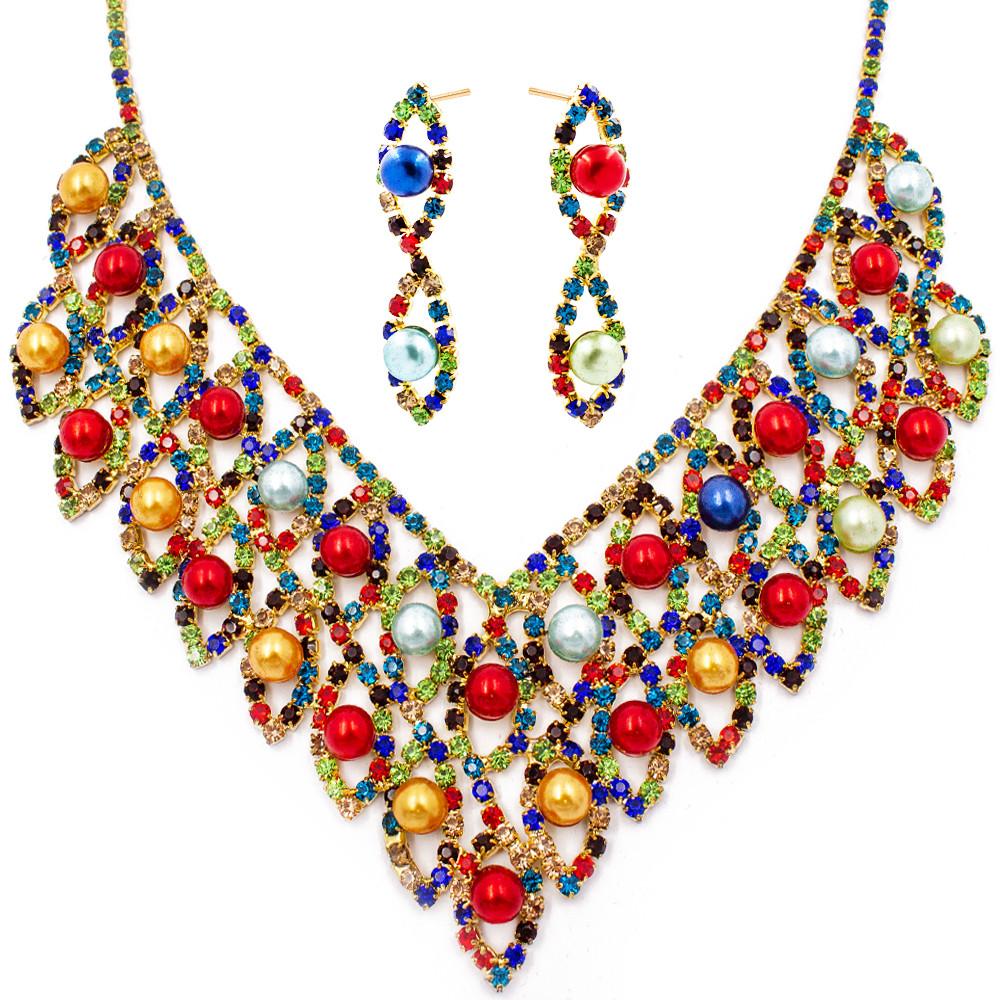 """Набор эксклюзивной бижутерии ожерелье+серьги """"Жемчужинка"""""""