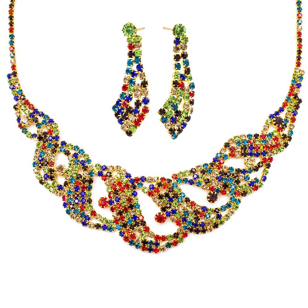 """Набор эксклюзивной бижутерии ожерелье+серьги """"Лоза"""""""
