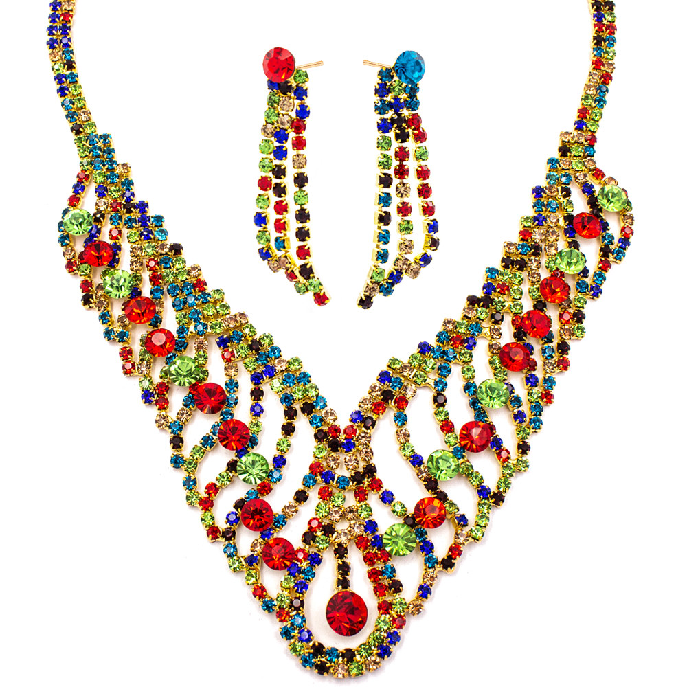 """Набор эксклюзивной бижутерии ожерелье+серьги """"Астерия"""""""