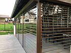Прозрачные рольставни из поликарбоната для террасы, фото 6