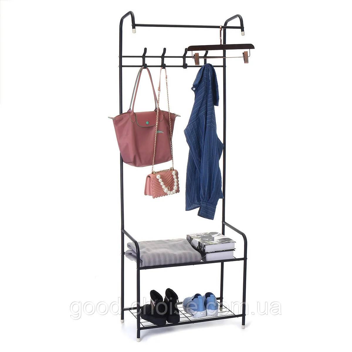 Вешалка напольная для одежды 3в1 HAT STAND