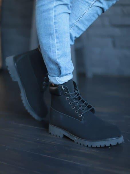 Черные зимние мужские ботинки Timberland