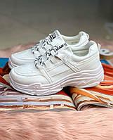Женские кроссовки шнурок чб белые