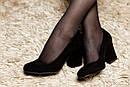 Женские замшевые туфли (красные, черные), фото 5