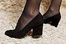Женские замшевые туфли (красные, черные), фото 6