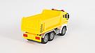 """Машинка грузовик спецтехника с воздушной помпой """"City service"""" желтый (свет, звук), фото 4"""