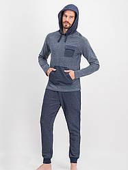 Комплект мужской демисезонный (футболка длинный рукав с капюшоном +штаны) ARNETTA (размер L)