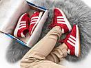Женские кроссовки Adidas Iniki Red из замша, топ качество, фото 6