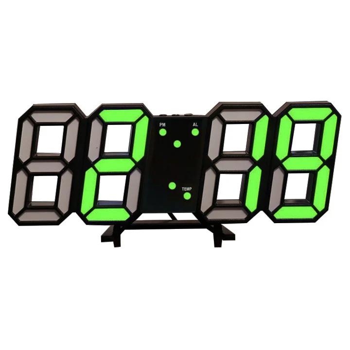 Электронные настольные часы черные с подсветкой календарь термометр