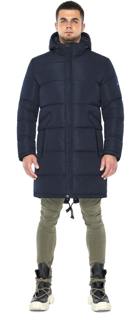Темно-синяя куртка стильная зимняя мужская модель 23410 (ОСТАЛСЯ ТОЛЬКО 54(XXL))