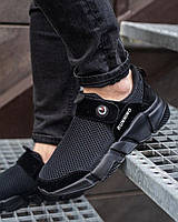 Мужские кроссовки Липучка черные