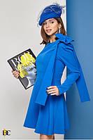 Короткое платье женское с бантом на плече - Р 2697