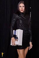 Облегающее мини платье с драпировкой - Р 2658