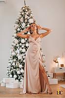 Шёлковое платье женское на тонких бретелях - Р 2662