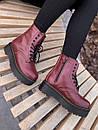 Кожаные женские ботинки Dr. Martens Jadon Bordo, фото 8