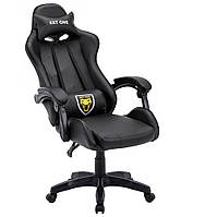 Геймерське ігрове крісло Спортивне крісло EXT ONE Black Офисное кресло компьютерное Стул игровой Кресло спорт