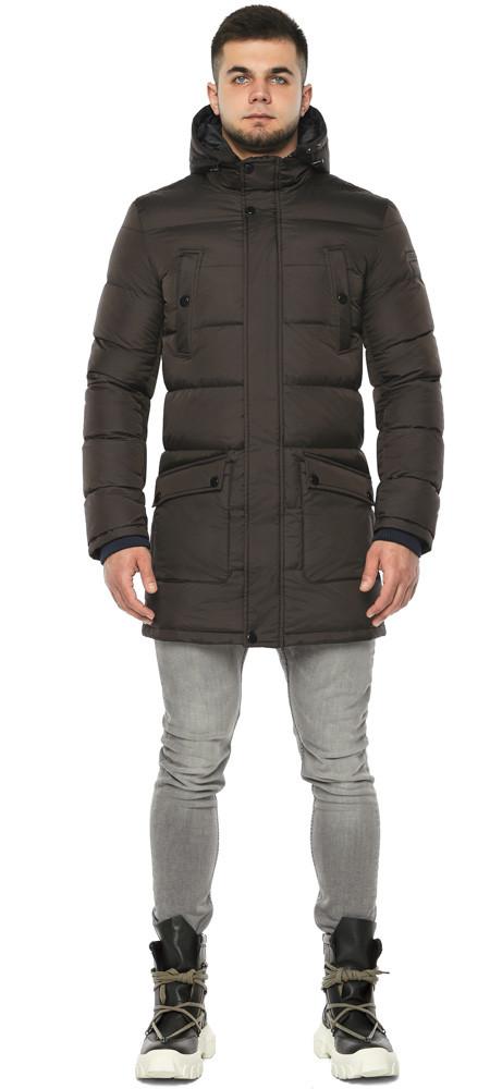 Куртка с карманами зимняя мужская цвет кофе модель 32045 (ОСТАЛСЯ ТОЛЬКО 56(3XL))