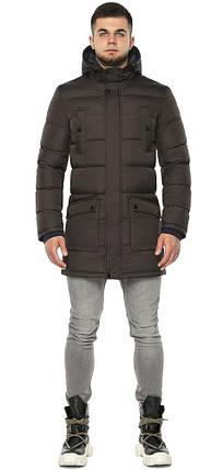 Куртка с карманами зимняя мужская цвет кофе модель 32045 (ОСТАЛСЯ ТОЛЬКО 56(3XL)), фото 2