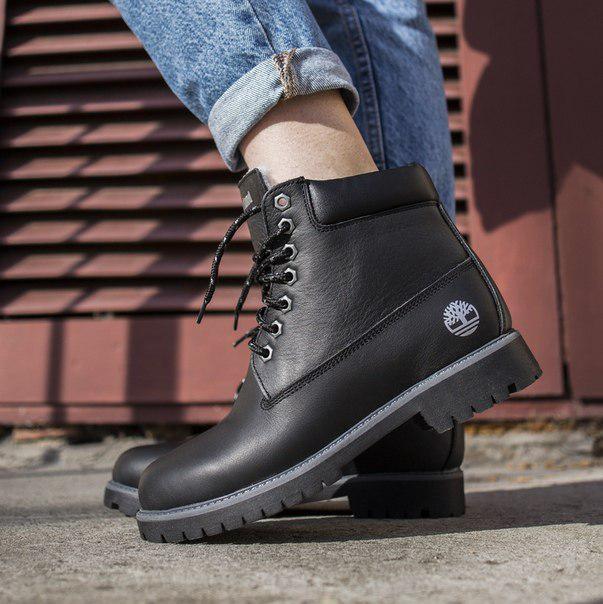 Женские кожаные ботинки Timberland