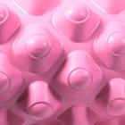 Массажный валик ролик для йоги и фитнеса Dobetters Grid Roller Pink 33*14 см, фото 3