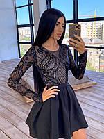 Красивое платье женское черное с пышной юбкой