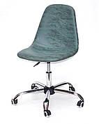 Крісло офісне на коліщатках LARІ OFFICE нубук ЗЕЛЕНИЙ MR - 202