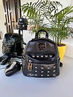 Рюкзак женский Philipp plein чёрного цвета