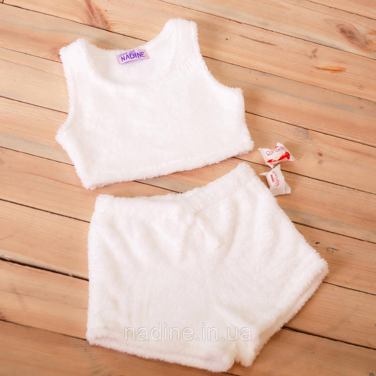 "Топ + шорти піжама ""White"" Eirena Nadine (773-58) біла на зріст 158"
