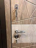 Входные двери металлические для квартиры Магда 333/ 2 венге горизонт темный, фото 8