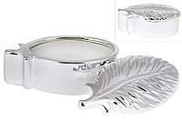 Декоративная свеча в виде пера с крышкой (цвет - серебро)