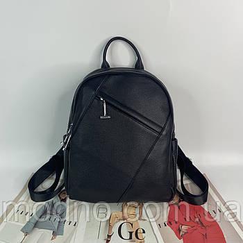 Женский кожаный вместительный городской рюкзак на два отделения Polina & Eiterou