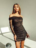 Нежное мини платье женское черное