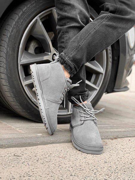 Мужские зимние ботинки UGG Neumel (цвета: синий, серый)