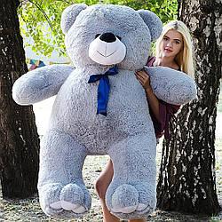 Плюшевые медведи: Плюшевый медвежонок Ветли 1,6 метра (160 см), Серый