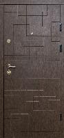 Входные двери металлические для квартиры Магда 333/ 2 венге горизонт темный