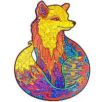 Деревянный пазл «Очаровательная лиса» (300+ деталей, размер А3)