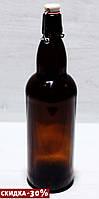 Бутылка с бугельной крышкой Litva Brown 1000мл