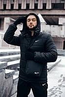 """Зимняя мужская куртка """"Европейка"""" черного цвета"""
