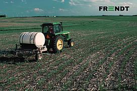 Установка оборудования для для ленточного внесения удобрений