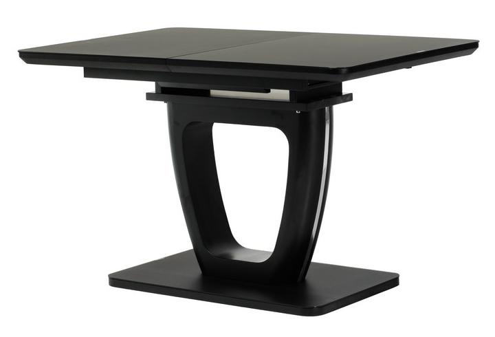 Стол раскладной ТМL-560 120/160 матовый черный TM Vetro Mebel