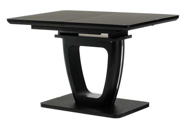 Стол раскладной ТМL-560 120/160 матовый черный TM Vetro Mebel, фото 2