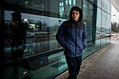 """Куртка мужская зимняя синяя - черная """"Аляска"""" с мехом + подарок Перчатки, фото 3"""