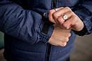"""Куртка мужская зимняя синяя - черная """"Аляска"""" с мехом + подарок Перчатки, фото 9"""