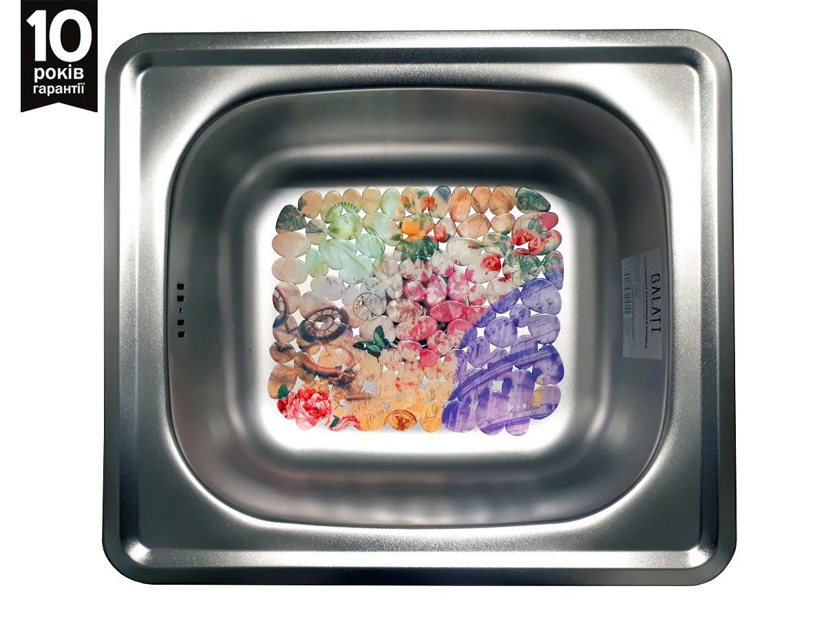 Кухонная врезная мойка из нержавейки Galati Nicola Satin