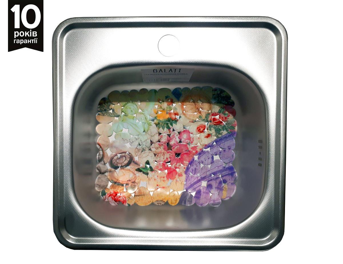 Кухонная мойка врезная из нержавейки Galati (Eko) Mala Textura