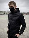 """Мужская весенняя куртка, ветровка черная Intruder """"Sprinter"""", фото 4"""